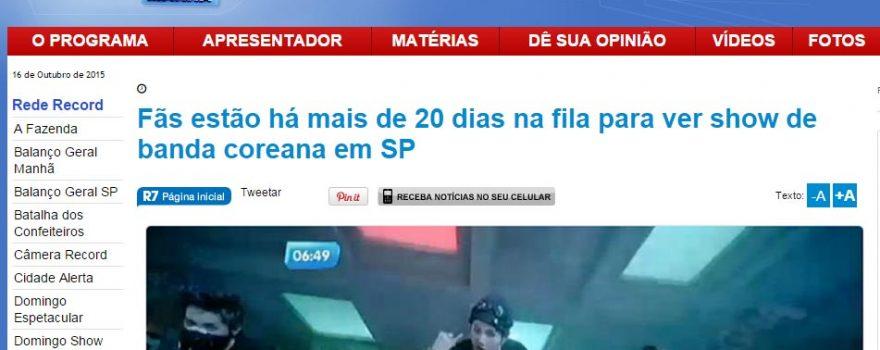 Notícia Jornal Balanço Geral da Rede Record – 23/07/2015