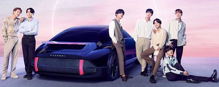 BTS divulga clipe para promover carro elétrico da Hyundai