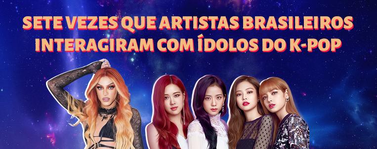 Sete vezes que artistas brasileiros interagiram com ídolos do k-pop