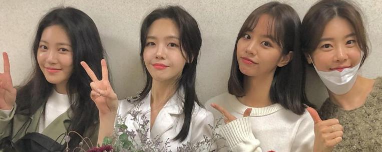Integrantes do Girl's Day se reúnem para assistir musical de Minah
