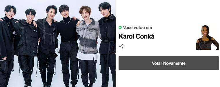 """Grupo de k-pop BLACK6IX pede """"fora Karol Conká"""" e show no BBB"""