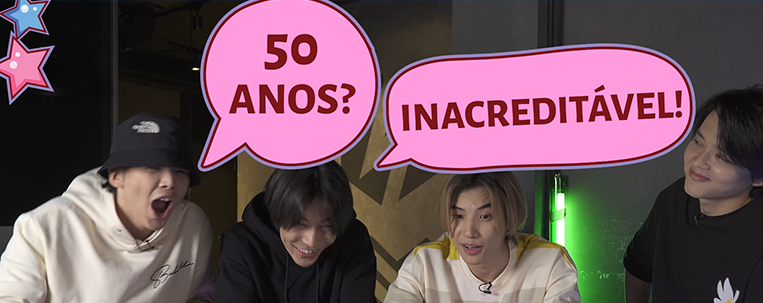 Grupo de q-pop DNA tenta adivinhar idades de artistas brasileiros; veja o vídeo