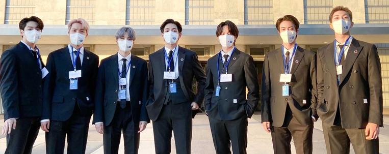 BTS defende a vacinação contra a covid-19 em discurso na Assembleia Geral da ONU
